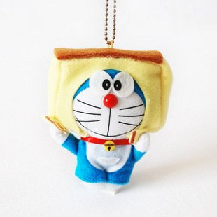 Doraemon/DingDang Cosplay Delicious Cake Plush Toy Keychain