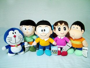 Large Jumbo 18� Doraemon Family Plush (Set of 5)