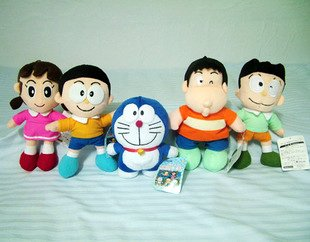 9.4� Doraemon Family Plush (Set of 5)