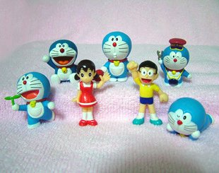 Doraemon Nobita & Shizuka Figure Collection (Set of 7)