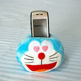 Doraemon/DingDang Cell Phone Holder Plush Toy