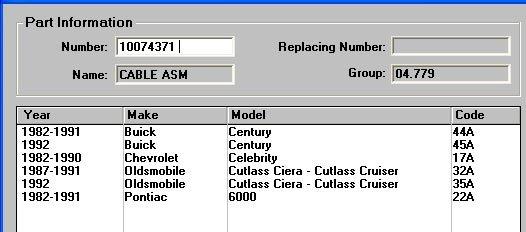 82-90 Celebrity Cierra Century 6000 L/R Brake Cable NOS GM 10074371 25516527