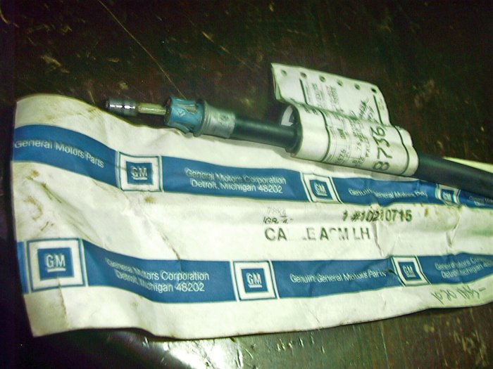 90-96 Lumina APV Pontiac Transport Oldsmobile Siloutte  NOS L/Rear Brake Cable 10210715