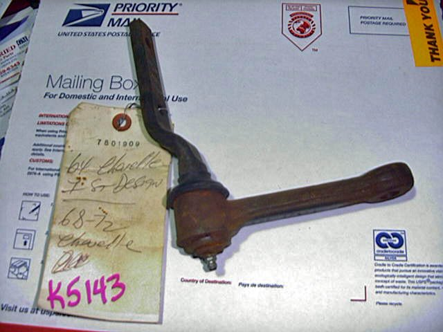 1968-72 GM Chevelle 442 Cutlass GTO Skylark NOS Idler Arm 7801909
