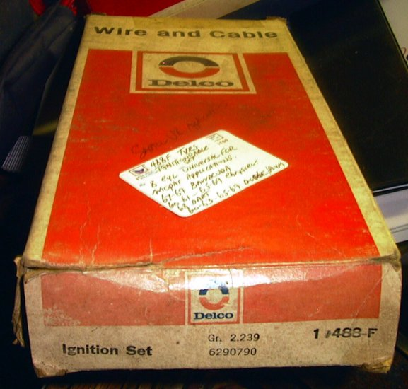 Chrysler Plymouth Dodge, 67-69 Barracuda, 8 Cylinder NOS Delco Ignition Wire Set 1960-69