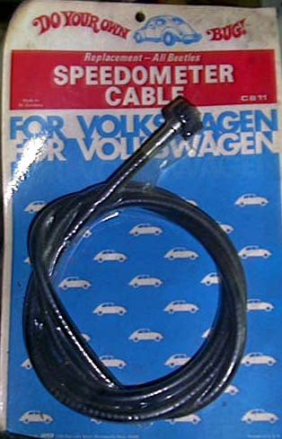 111 957 80 1946-1977 Volkswagen Beetle - 1956-71 VW Karmann Ghia Speedometer Cable
