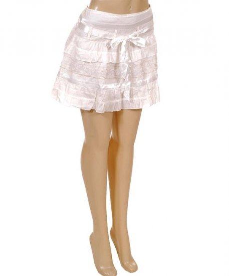 White Ribbon Vintage Sweet Kawaii Style Tie-Up Skirt