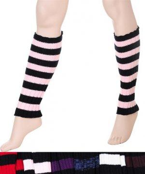NWT Stripe Leg Warmers Cosplay Punk Goth Many Colors!