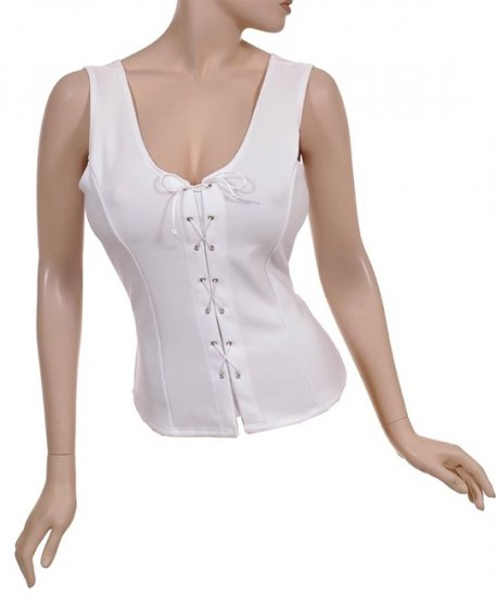 White Bustier Style Corset Bohemian Top