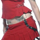 Lip Service Gangsta Pranksta Pleated Mini Bondage Skirt