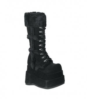 "BEAR - 4½"" Stacked Platform Suede Calf Boots"
