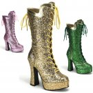 """Bordello"" Glitter Party Mardi Gras Celebration Boots"