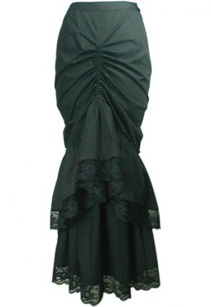 Floor-Length Elegant Victorian Bustle Lace Skirt