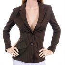 Brown Pinstripe Blazer Jacket Steampunk Professional