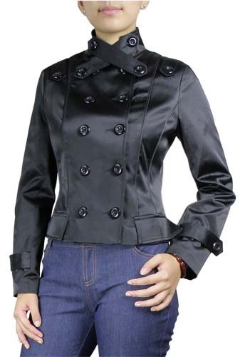 Double-Breasted Military Button Jacket