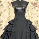 Button Accent Underbust Ruffle Tiered SKirt