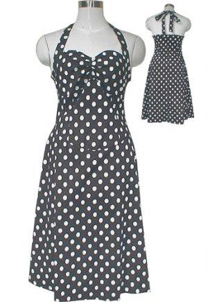 Polka Dot Rockabilly Pin-up Style Dress