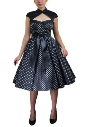 Deluxe Bow Polka-dot Dress
