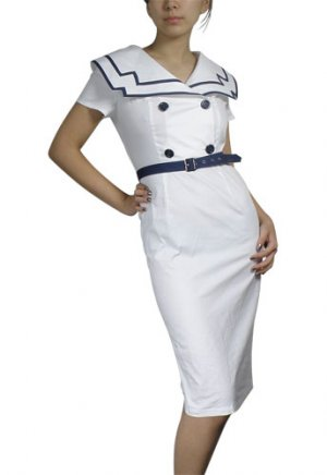 Vintage Style Retro Sailor Dress