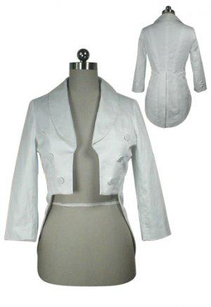 White Tailcoat Tuxedo Jacket