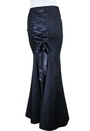 NEW Corseted-Back Long Fishtail Skirt