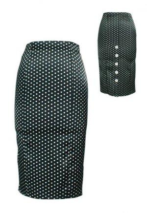 Black Sexy Polka Dot High-Waist Pencil Skirt