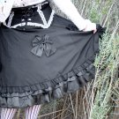 Black Bows High-Waist/Underbust Lolita Style Skirt