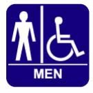 Men&#39;s Restroom Sign-Disabled Accesible