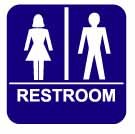 Unisex Restroom Sign-8&quot; X 8&quot;