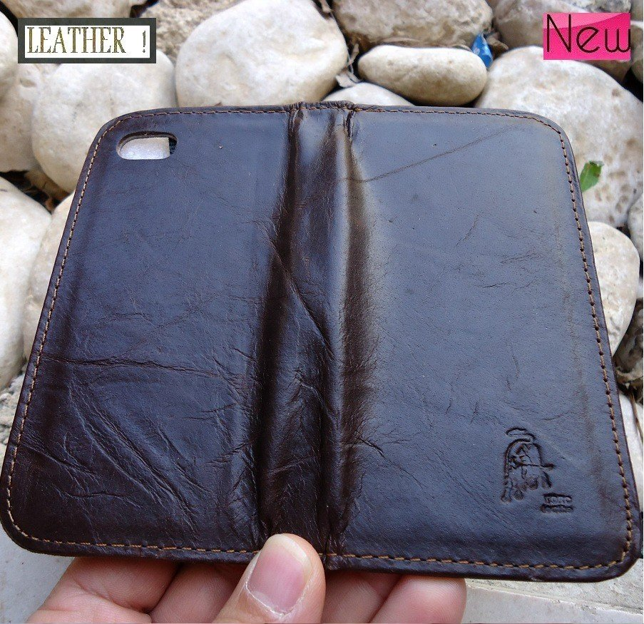 genuine real leather case for iphone 4s cover purse bag s 4 book wallet 3s id TO free shipping !