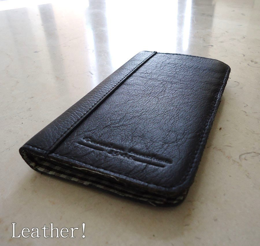 genuine real leather Case For Samsung Galaxy Note II 2 book wallet handmade new