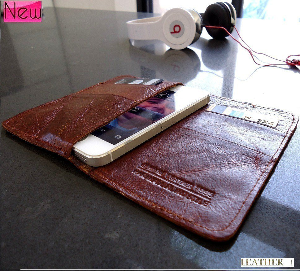 genuine leather case FIT Samsung book wallet cover pouch galaxy s2 s2 s3 mini g2