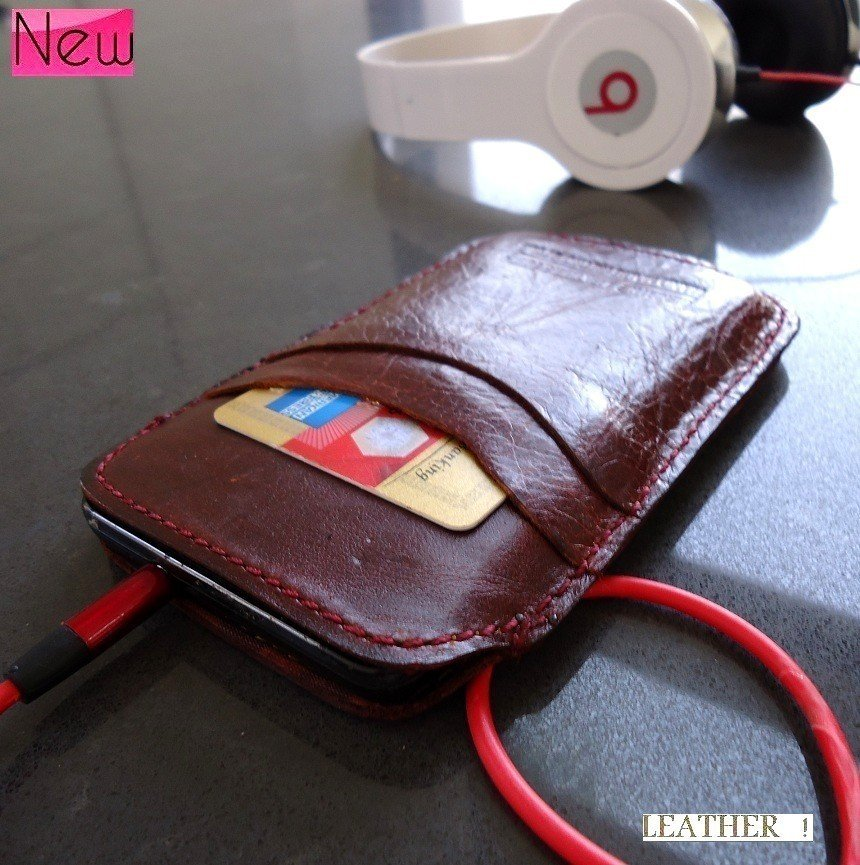 real leather Case cover purse pouch phone PULL fit samsung galaxy i9000 s 1 new