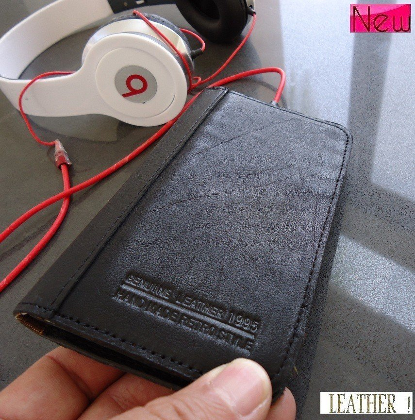 genuine real natural leather Case fit SAMSUNG Galaxy S3 s 3 book wallet handmade