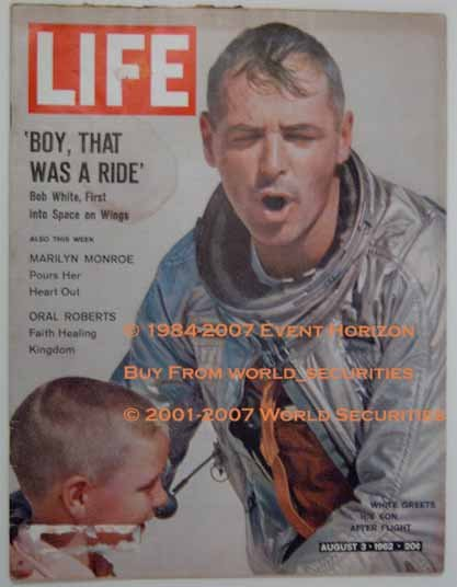 Life Magazine August 3 1962 Bob White Marilyn Monroe Oral Roberts