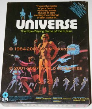 SPI Universe Box RPG Gamemaster Adventure Guide Screen DeltaVee Tactical Space Combat