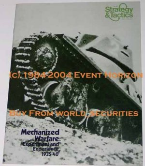 SPI Strategy & Tactics Magazine Issue 41 Mechanized Warfare Experiment and Experience 1935-1940