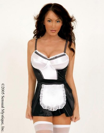 French maid costume with underwire cup