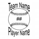 Baseball/Softball Team Spirit Decal