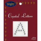 "Acrylic Rhinestone Number Iron-on Appliqué ~ 7/8"" ~ Wrights (Letter ""O"")"