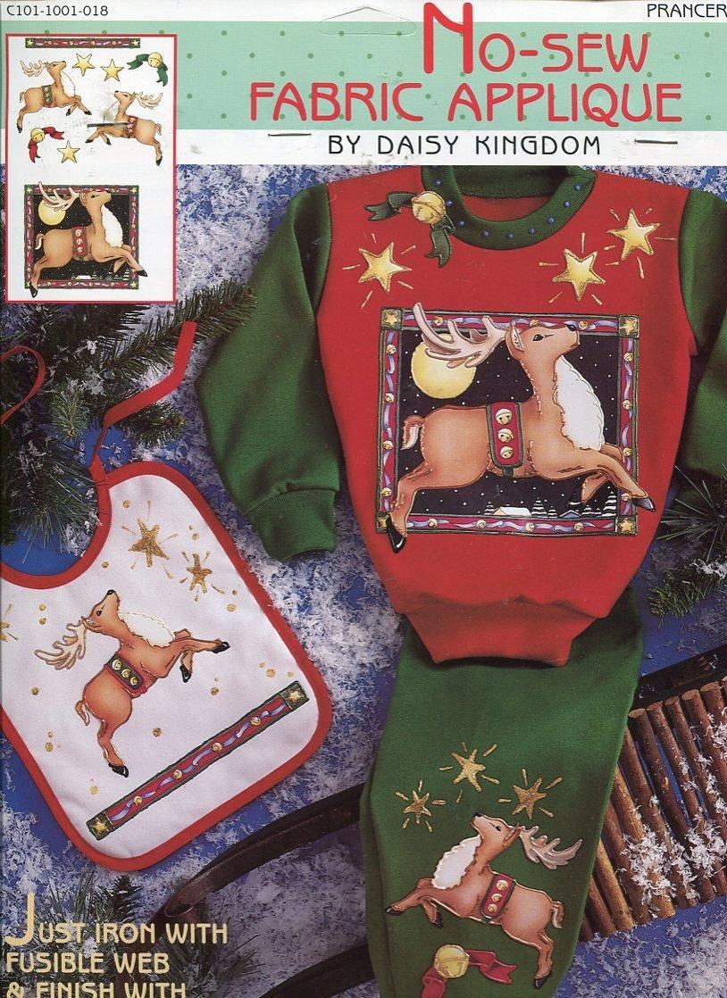 Daisy Kingdom No-Sew Fabric Christmas Reindeer PRANCER Applique