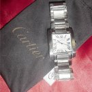 Cartier Tank Francaise Steel Mens Watch