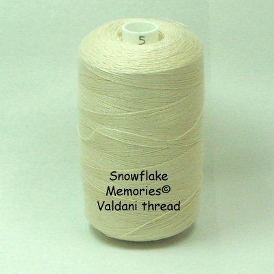 5 Light Ecru - All Purpose 50 wt Valdani cotton thread  x0
