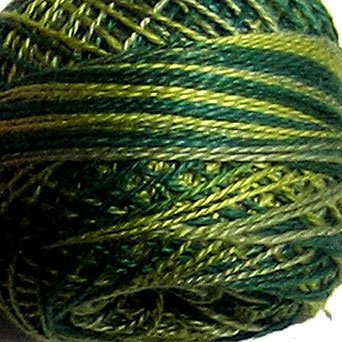 M19 Olives Pearl Cotton size 8 Valdani Variegated q3