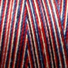 M17 Patriotic 35wt 1080 yds Valdani Hand Dyed Variegated Cotton Quilting Thread  q2