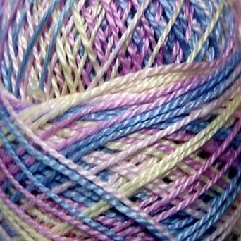 M6 Baby Joy  Pearl Cotton size 12 Valdani Variegated q1