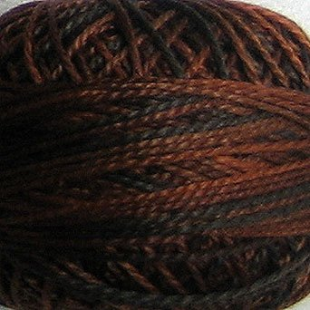 M90 Chocolate Brownies  Pearl Cotton size 12  Valdani Variegated q6