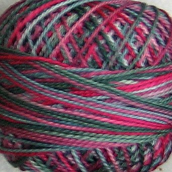 M51 Victorian Splendour  Pearl Cotton size 12  Valdani Variegated q1