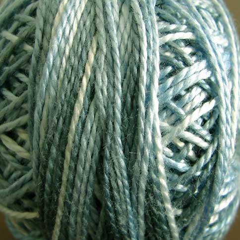 M93 Silver Foam Pearl Cotton size 12  Valdani Variegated q6