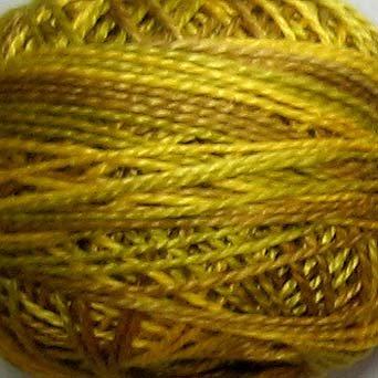 M16 Golden Accents  Pearl Cotton size 8  Valdani Variegated q1